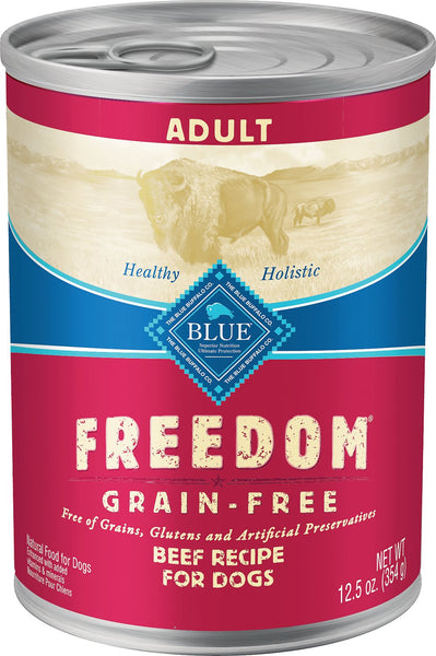 Blue Freedom Canned Dog Food 12/12.5oz Cans