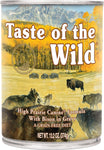Taste of the Wild Canned Dog Food- High Prairie Canine Formula in Gravy- with Roasted Bison & Roasted Venison