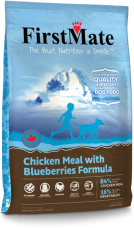 FirstMate GRAIN FREE Formula Chicken Meal with Blueberries Dog Food