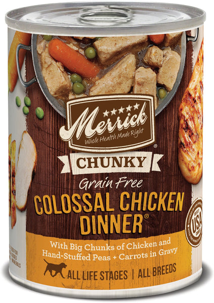 Merrick Chunky Colossal Chicken Dinner - Canned