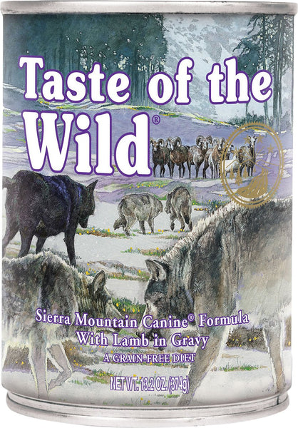 Taste of the Wild Canned Dog Food- Sierra Mountain Formula in Gravy – with Roasted Lamb