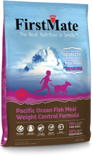 FirstMate GRAIN FREE Formula Pacific Ocean Fish Meal Weight Control Dog Food