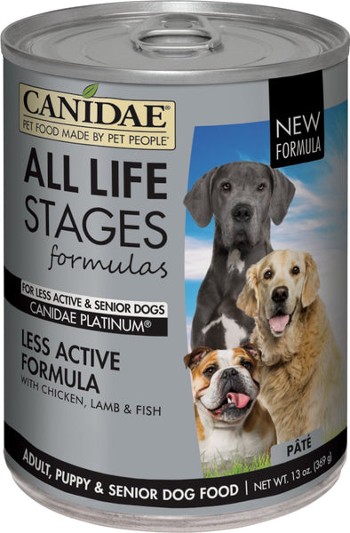 Canidae Platinum  Formulated for Less Active Seniors