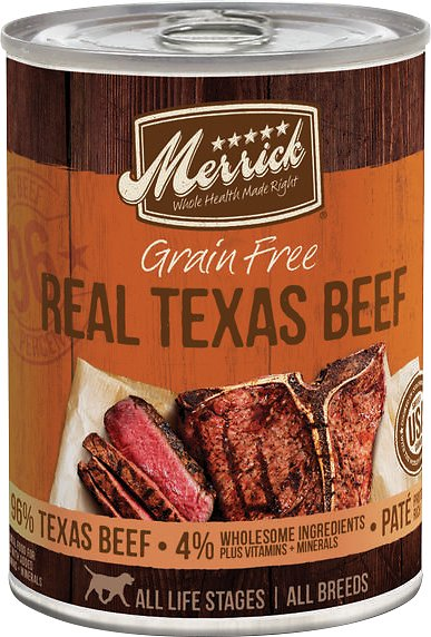 Merrick Grain Free 96% Real Texas Beef - Canned