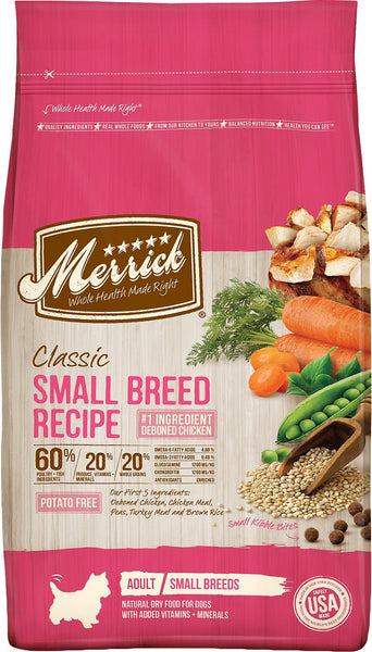Merrick Classic Adult Toy & Small Breed Real Chicken with Brown Rice & Green Pea
