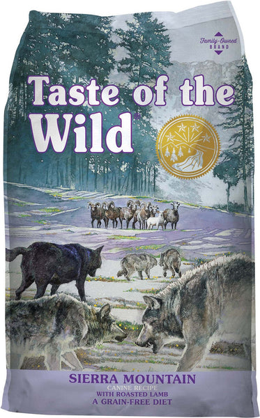 Taste of the Wild Dog Food- Sierra Mountain Canine Formula - with Roasted Lamb