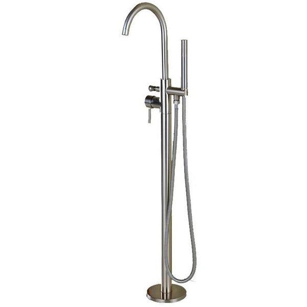 HELIX Ascoli Bath faucet floor mounted Brushed Chrome - Helix Tapware