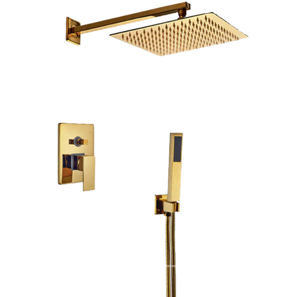 HELIX Biella Gold Shower set rain - Helix Tapware