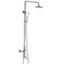 "HELIX Novara Shower set 10"" rain head brushed chrome - Helix Tapware"