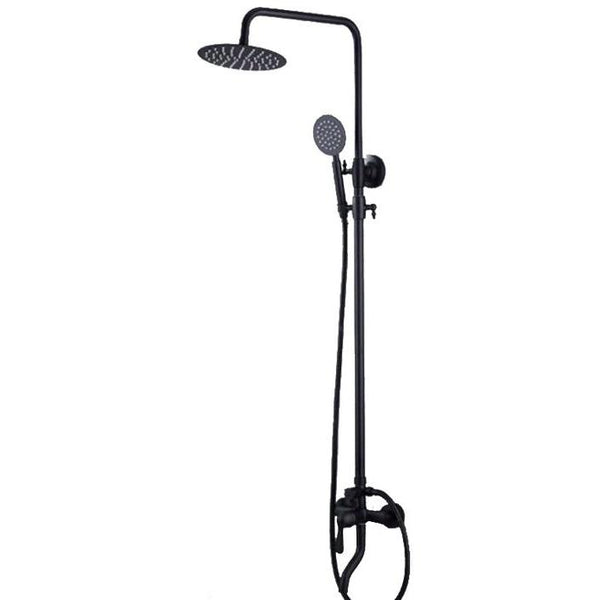 HELIX Rotranto Shower Set Black with rain head - Helix Tapware