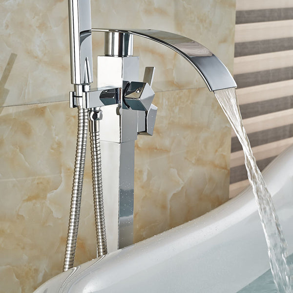 HELIX Savona Bath mixer floor-mounted with shower - Helix Tapware