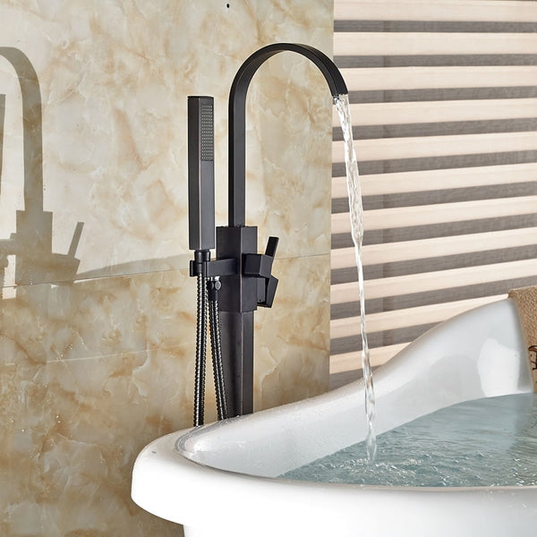 HELIX Formia Freestanding Bath Faucet with handheld shower Oil Rubbed Bronze - Helix Tapware