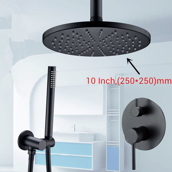 HELIX Modena Shower System Black overhead - Helix Tapware