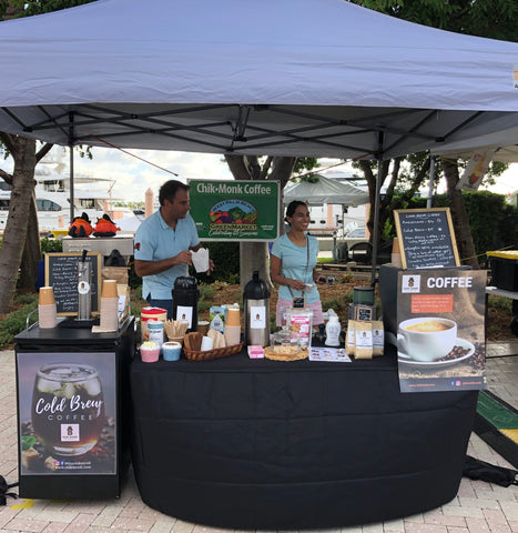 West Palm Beach Green Market ChikMonk Coffee