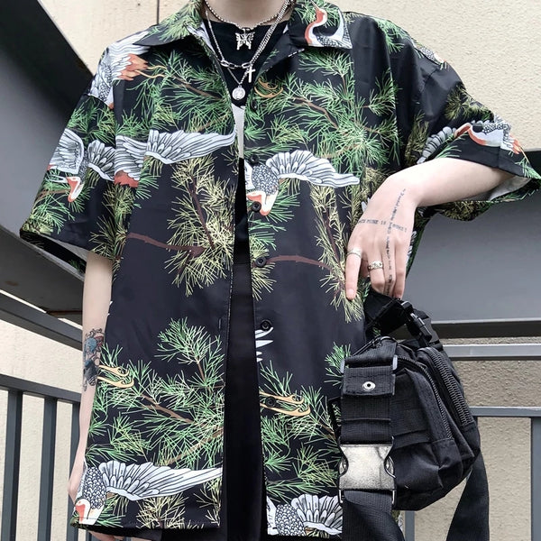 Kai's Unisex Coastal Forest Blouse