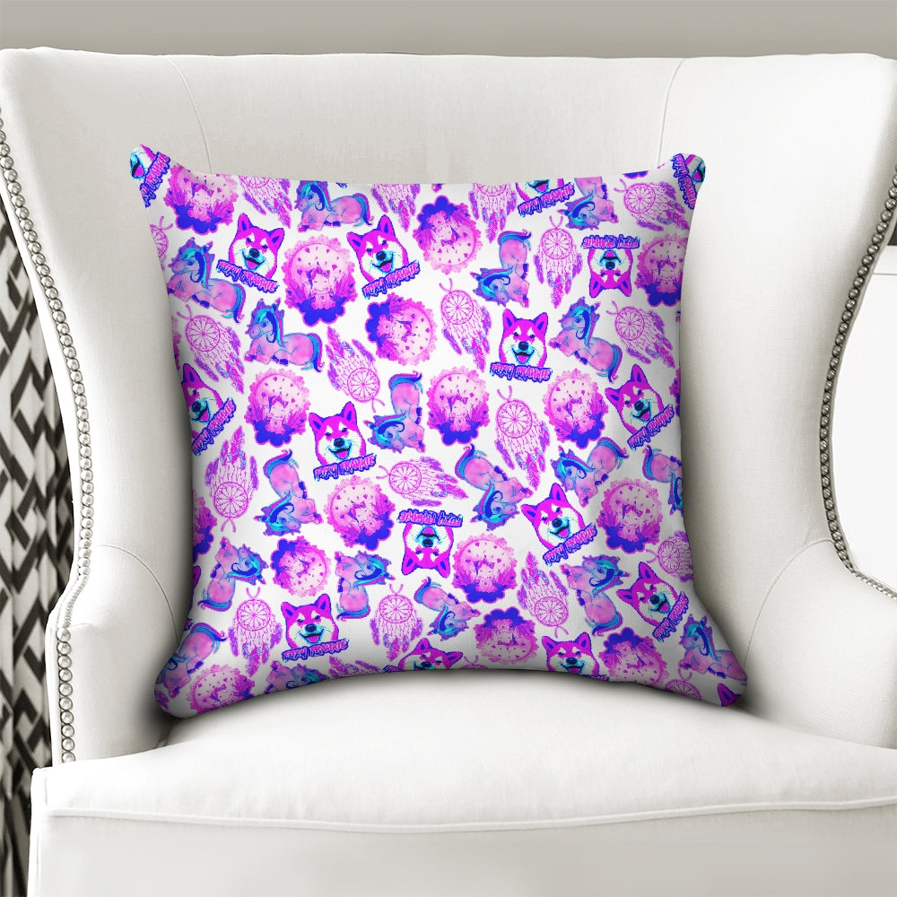 Frankie's Unicorn Daze Throw Pillow Case