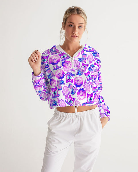 Frankie's Unicorn Daze Cropped Windbreaker
