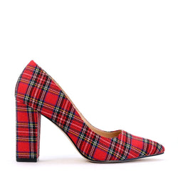 GARAGE RED TARTAN - Urban Collective Footwear