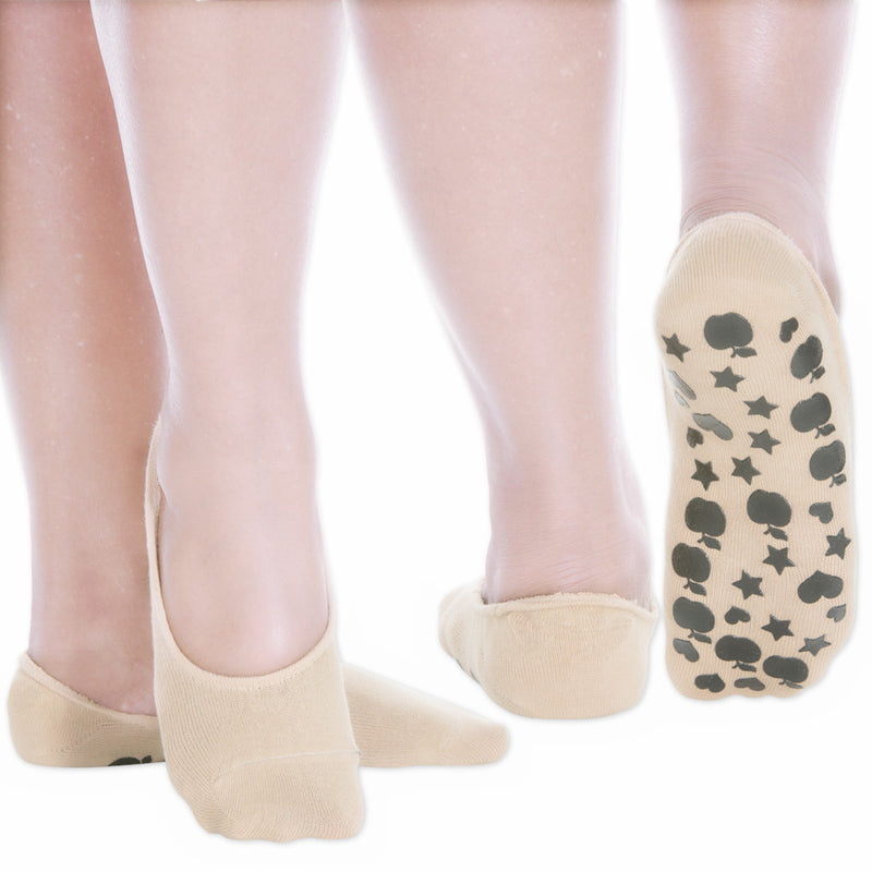 Womens Socks No Show Socks with Non slip Grips Socks Pack of 3