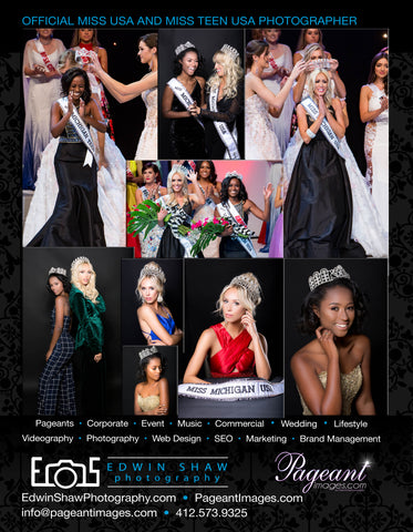 2018 Miss Michigan USA and Miss Michigan Teen USA Ultimate Photo Package