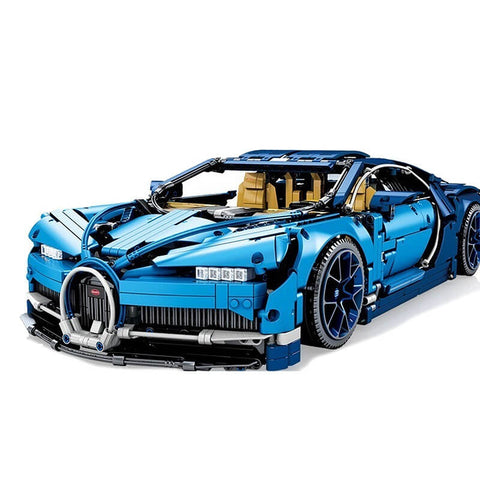Technic Race Car Toys  Blue Bugattis Car Building Blocks - Colorcome