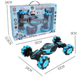 Remote Gesture Control Double Side Twisted Stunt Car for Children Gifts - Colorcome