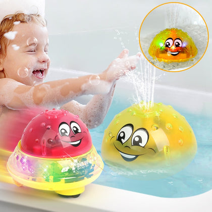 Funny Electric Induction Sprinkler Ball with Light Music Children Water Spray Play Ball Bathing - Colorcome