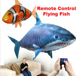 Remote Control Shark Toys Air Swimming Fish Infrared RC Flying Fish - Colorcome