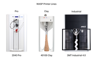 WASP Delta 3D Printers! Industrial 3D Printing, clay 3d printing, and professional 3d printer!