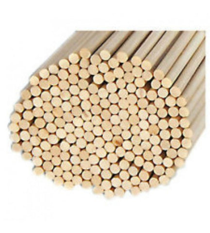 "100 PACK 1/4"" WOODEN DOWELS"