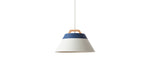 LAMP by 2TONE 3BULB PENDANT LIGHT NV/WH