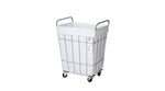 WIRE ARTS&PRO  FOLDING LAUNDRY SQUARE BASKET with CASTER 45L white