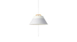 LAMP by 2TONE 3BULB PENDANT LIGHT WH/GY