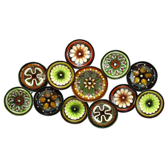 FARMHOUSE, FLOWER, CIRCLES, METAL WALL DECOR, FLORAL