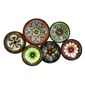 RUSTIC, FLOWER, CIRCLES, METAL WALL DECOR, FLORAL