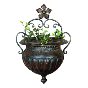 TRADITIONAL, WALL PLANTER, GARDEN, PLANTERS - METAL