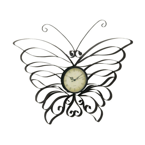 ECLECTIC, BUTTERFLY, CLOCK, GARDEN, OUTDOOR CLOCKS & THERMOMETERS