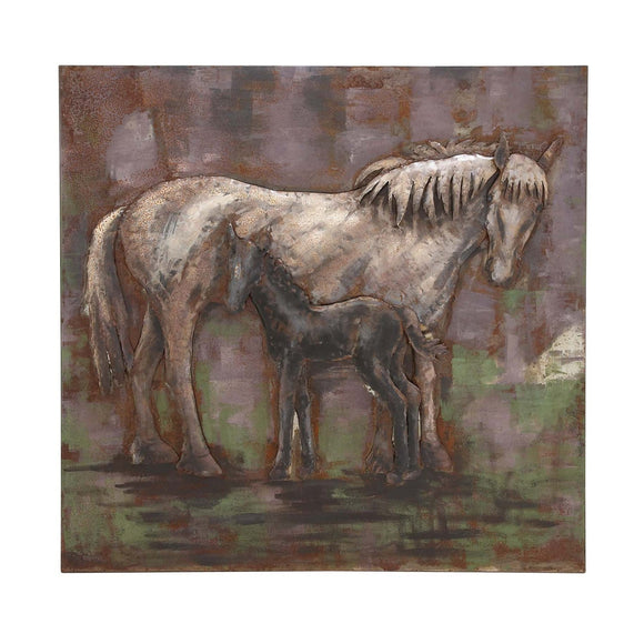 FARMHOUSE, HORSE, METAL WALL DECOR, ANIMALS