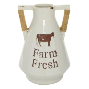 FARMHOUSE, FARMERS MARKET, COW, PITCHER, VASES, PORCELAIN