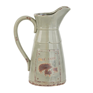 FARMHOUSE, FARMERS MARKET, PIG, PITCHER, HOME ACCENTS, DECORATIVE JARS
