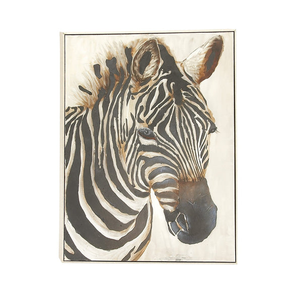 TRADITIONAL, ZEBRA, WOOD WALL DECOR, ANIMALS