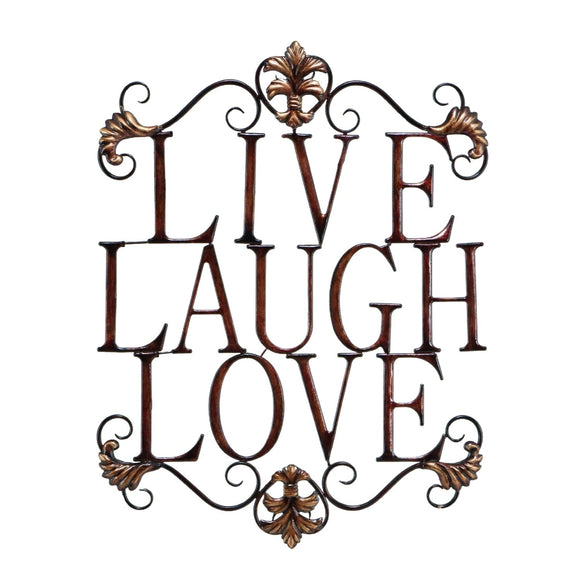 TRADITIONAL, LIVE, LAUGH, LOVE, INSPIRATIONAL, METAL WALL DECOR, SIGNS AND FLAGS