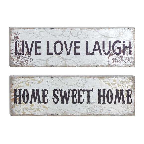 FARMHOUSE, LIVE, LAUGH, LOVE, HOME, SWEET, INSPIRATIONAL, WOOD WALL DECOR, SIGNS & FLAGS