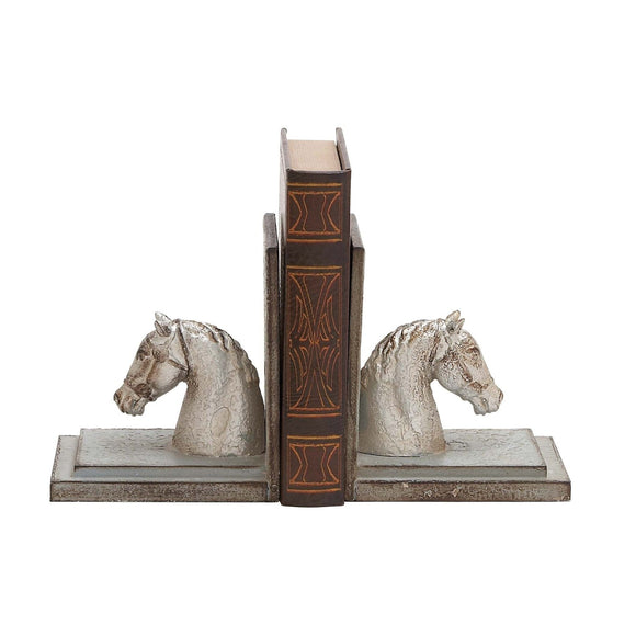 COUNTRY COTTAGE, HORSE, BOOKENDS, HOME DECOR, BOOKENDS