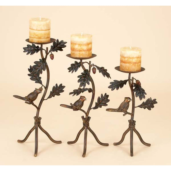 RUSTIC, BIRD, CANDLE HOLDER, CANDLE HOLDERS, CANDLE HOLDERS