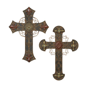 TRADITIONAL, CROSS, METAL WALL DECOR, INSPIRATIONAL