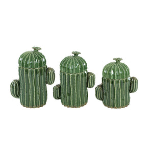 NATURAL, CACTUS, GREEN, JAR, WESTERN, SOUTHWESTERN, HOME ACCENTS, DECORATIVE JARS