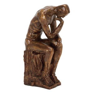 TRADITIONAL, THINKING, MAN, SCULPTURES, PEOPLE