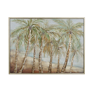COASTAL, PALM TREE, WALL ART, WALL ART, FLORAL