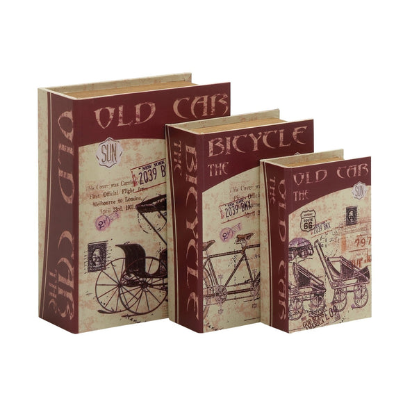 VINTAGE, BOX, BOOK, CHEST, BICYCLE, CAR, BOXES, FAUX BOOKS